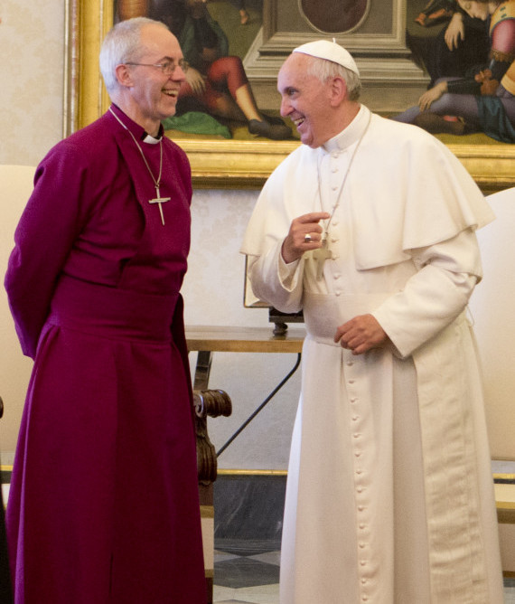 Pope in historic Anglican visit